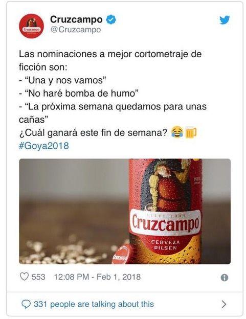 cruzcampo tweet