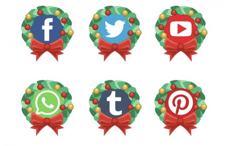 Navidad en redes sociales