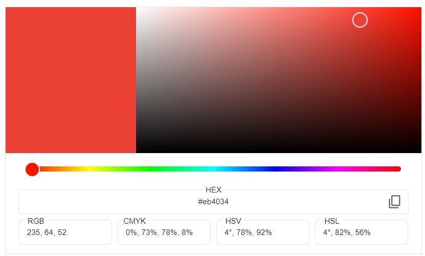 selector de color de google